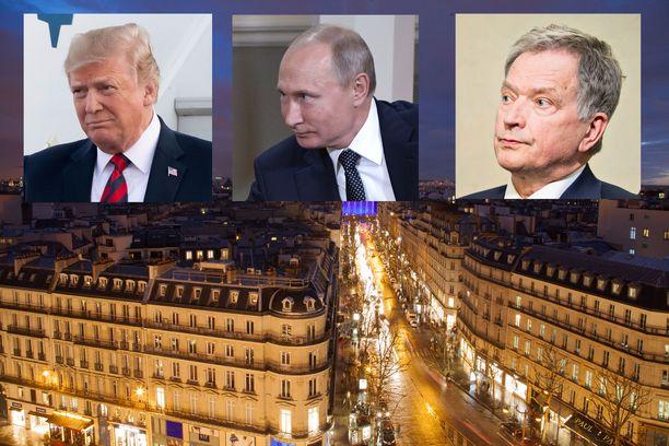 """Pariisiin kerääntyy viikonloppuna yli 60 maailman johtajaa sekä lukuisia arvovieraita juhlistamaan """"Suuren sodan"""" loppumista."""