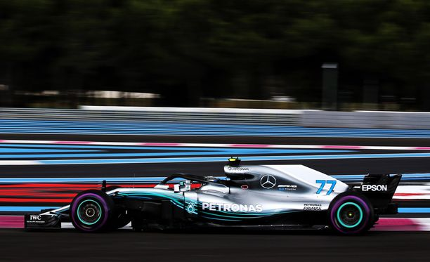 Valtteri Bottas onnistui komeasti Ranskan aika-ajon Q3:lla.
