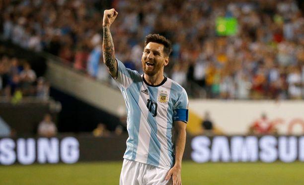 Lionel Messi saattaa nousta Argentiinan maajoukkueen kaikkien aikojen maalintekijäksi meneillään olevassa Copassa. Edellä maalipörssissä on vain Gabriel Batistuta.