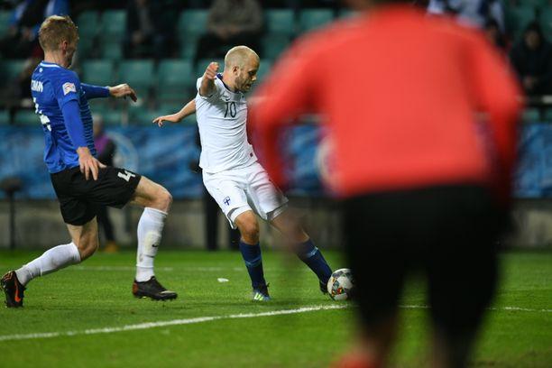 Teemu Pukin vasuri puhui. Suomi voitti Tallinnassa 1-0.