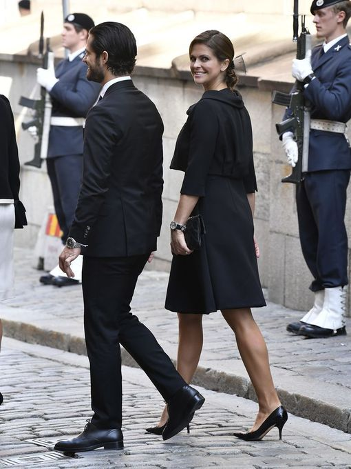 Prinsessa Madeleine vierellään veli Carl Philip.