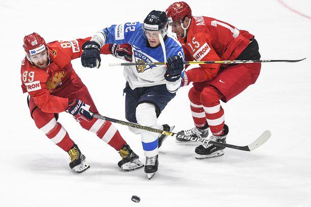 Harri Pesonen ja Leijonat taistelivat tiensä MM-finaaliin 1-0-voitolla.