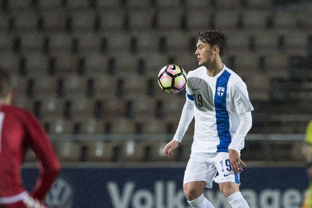 Kaan Kairinen edustaa ensi kaudella HJK:ta. Viime kaudella hän pelasi Fc Interissä.