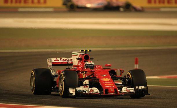 Kimi Räikkönen sai kierrosajan vasta kakkostreenissä.
