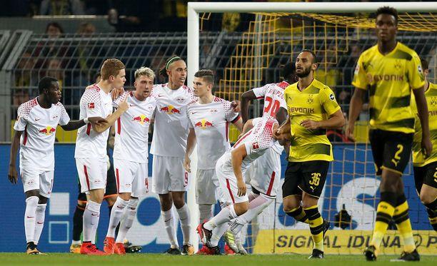 Vahvan alkukauden pelannut Leipzig tyrmäsi Dortmundin tämän kotikentällä.