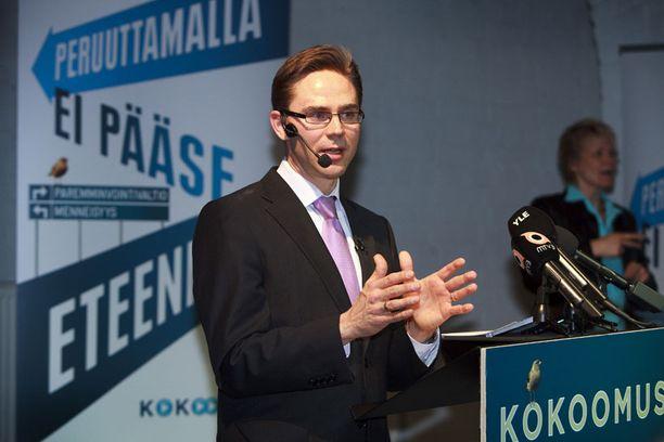 Kokoomus esitteli vaaliohjelmansa tänään Helsingin Pasilan veturihalleilla.