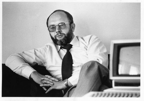 Nokia-johtaja Stefan Widomski heinäkuussa 1982 Kauppalehden haastattelussa.