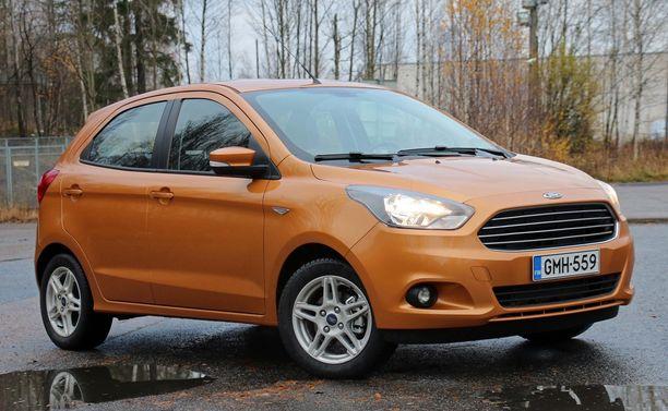 2. Ford Ka + on kasvanut kokoa, mutta hinnoitellaan Fiestan alapuolelle Fordin mallistossa.