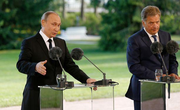Venäjän presidentti Vladimir Putin vieraili perjantaina Suomessa presidentti Sauli Niinistön vieraana.