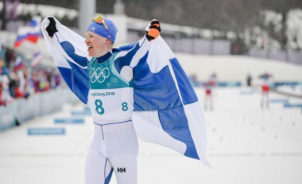 Iivo Niskanen juhlii olympiakultaa!