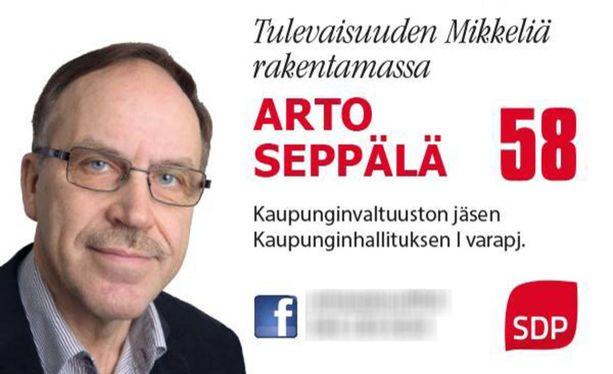 Seppälä on Mikkelin kunnallispolitiikan kärkinimiä. Seppälä on istunut Mikkelin kaupunginvaltuustossa yhtäjaksoisesti vuodesta 1985.