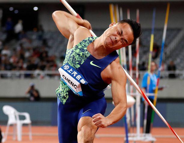 Lokakuussa 1993 syntynyt Taiwanin Chao-Tsun Cheng on keihäänheiton maailmantilaston tämän kauden kakkonen tuloksellaan 87,12.