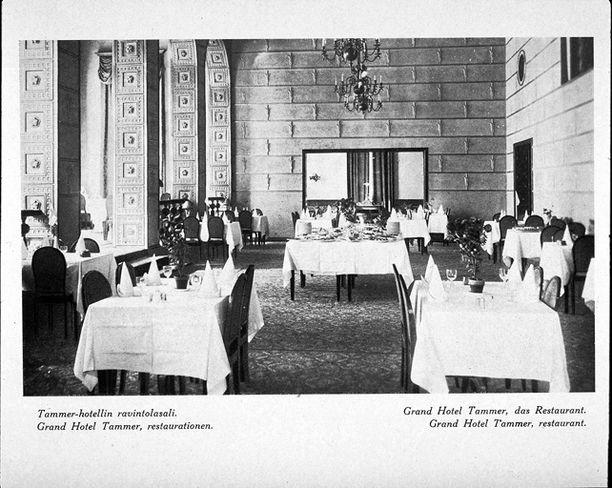 Tältä Tammerin ravintolassa näytti vuonna 1932.