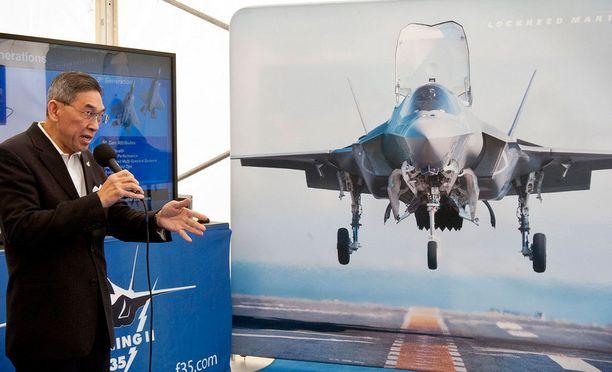 Tulevia F-35 hävittäjiä on esitelty myös suomalaisille.