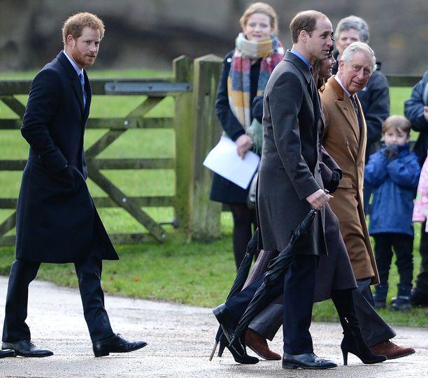 Prinssi Harry tepasteli isänsä ja veljensä perässä.