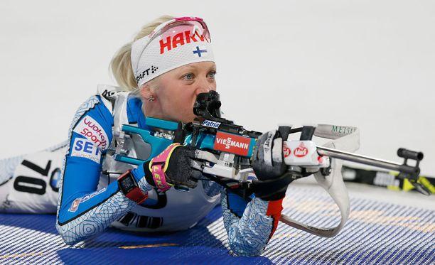 Kaisa Mäkäräinen haluaa ensi kaudella ampua aiempaa nopeammin.