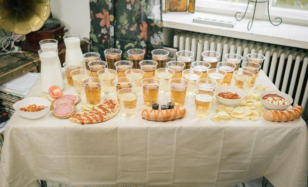 Tältä näyttää erään osallistujan viikon ateriat.