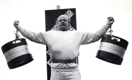 Voimamiehen työnäyte vuodelta 1987.