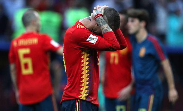 Sergio Ramos otti Espanjan tappion erittäin raskaasti.
