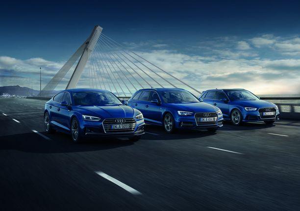 Audin kaasuautomallistosta löytyy sporttisia vaihtoehtoja.
