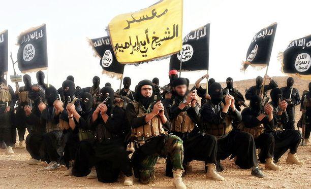 ISIS-taistelijat poseerasivat järjestön pr-kuvassa Irakissa syksyllä 2014.