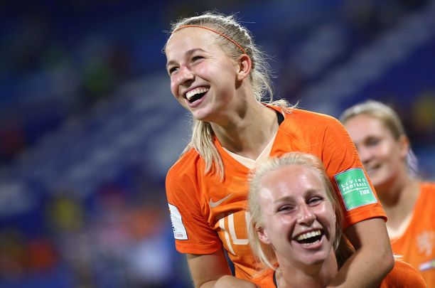 Jackie Groenen on juuri ratkaissut Hollannille naisten ensimmäisen MM-finaalin.