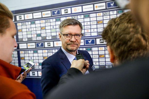 Päävalmentaja Jukka Jalonen oli tyytyväinen moneen asiaan Leijonien pelissä.