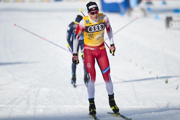 Johannes Kläbo oli keskiviikkona takaa-ajokilpailun kymmenes.