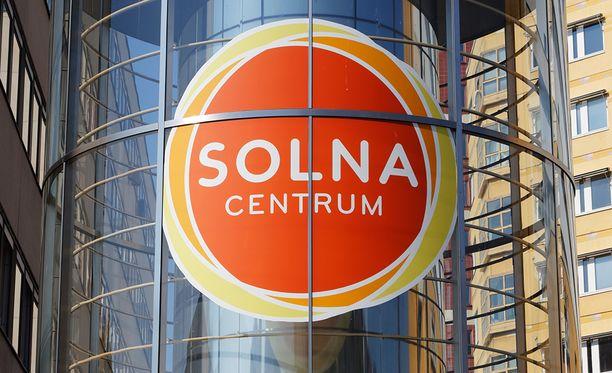 Räjähdys tapahtui Solna Centrum -ostoskeskuksessa.