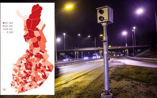 Joka minuutti Suomessa tehdään yli 1,5 rikosta - katso jättikartasta, millaisia rikoksia omassa kotikunnassasi on tehty 2010- luvulla