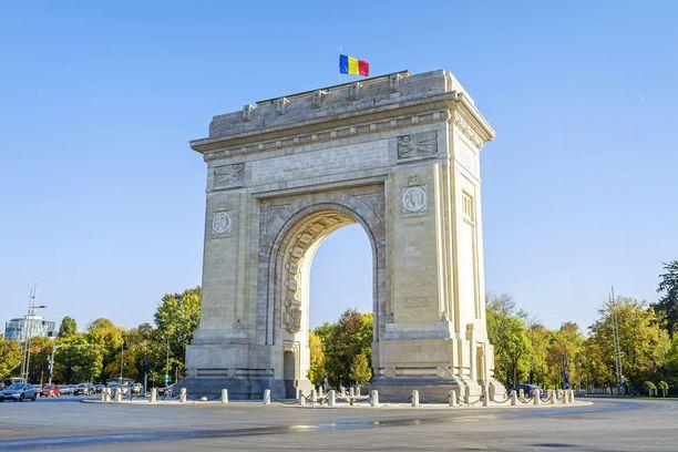 Bukarestin riemukaareen on otettu mallia Pariisista.