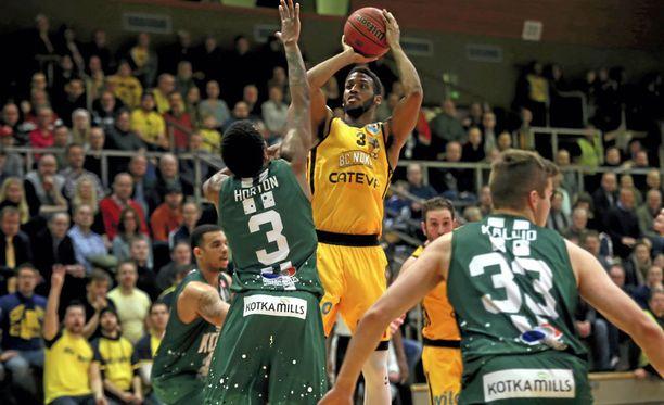KTP-Basketin ja BC Nokian helmikuinen ottelu uusitaan. Kuva viime joulukuulta.
