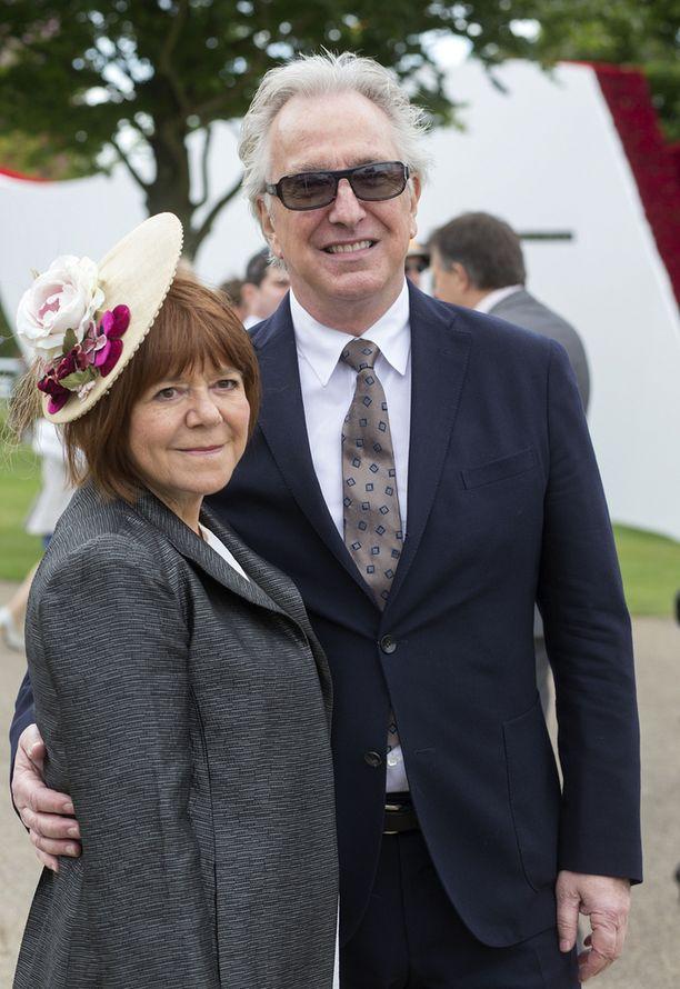 Alan Rickman ja vaimo Rima Horton kesällä 2015.