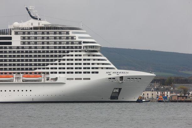 MSC Meraviglia on maailman viidenneksi suurin risteilyalus.