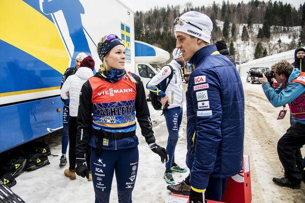 Jennie Öberg ja Calle Halfvarsson ehtivät olla yhdessä yhdeksän vuotta.