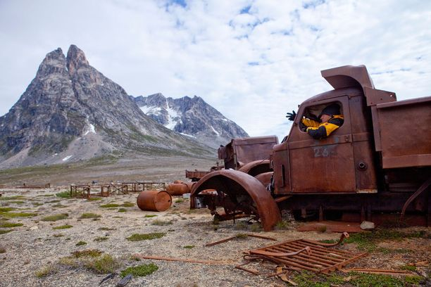 Yhdysvaltain armeija jätti paljon varusteitaan Grönlantiin.