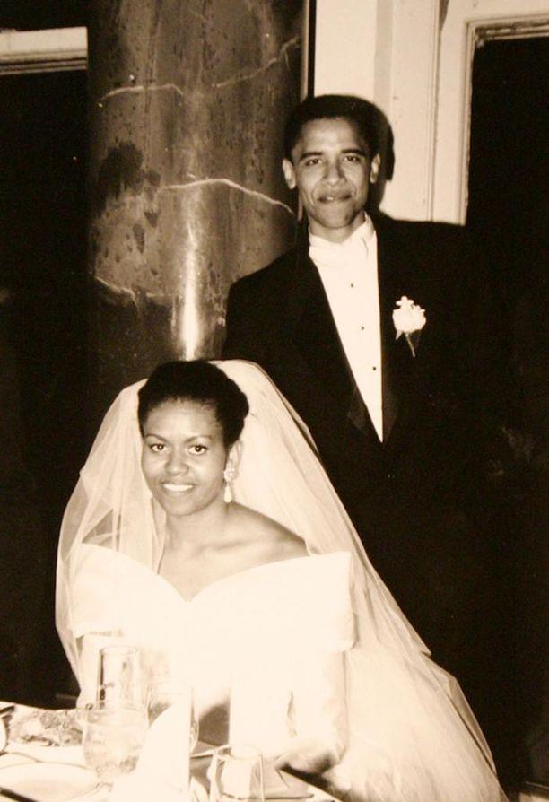 Michelle ja Barack avioituivat lokakuussa 1992 Chicagossa.
