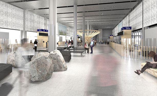 Noin 3 000 neliömetrin uudet tilat tarjoavat lisäkapasiteettia noin tuhannelle matkustajalle ja 12 asematasobussille.