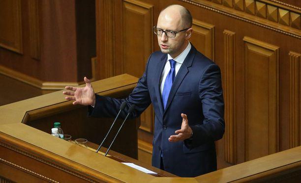 Ukrainan pääministeri Arseni Jatsenjuk.
