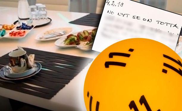 Suomen historian suurimman, 15,5 miljoonan euron lottopotin voittanut mies jätti terveisensä Veikkauksen vieraskirjaan.