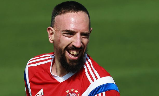 Franck Ribéry viihtyy Saksassa.