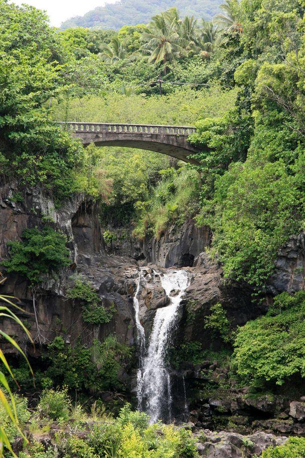 Hanaan vievä tie Havaijilla on kuuluisa kauniista maisemistaan. Sekä vaaroistaan, esimerkiksi sillat ovat näin kapeita.
