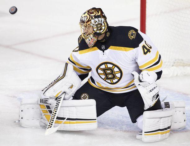 Tuukka Raskin edustama Boston Bruins otti maukkaan revanssin Washington Capitalsista jatkoajan jälkeen lukemin 4-3.