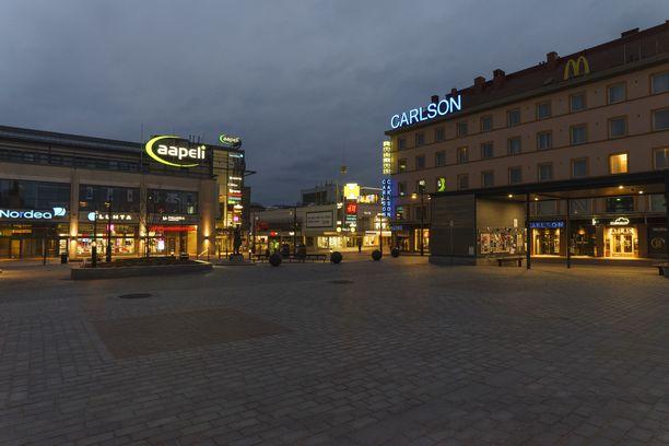 Poliisi tutkii tapon yritystä Kuopiossa. Kuva on Kuopion keskustasta.