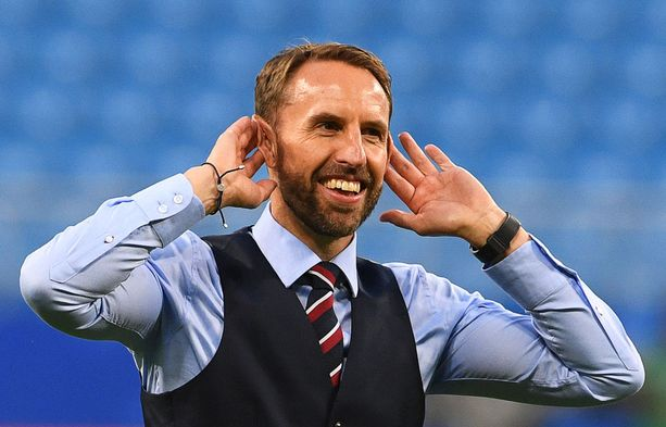 Gareth Southgaten slipoveri-lookista on tullut tavaramerkki.