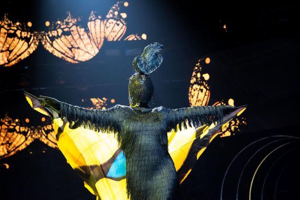 Perhosen henkilöllisyys paljastettiin viime lauantain Masked Singer -jaksossa.