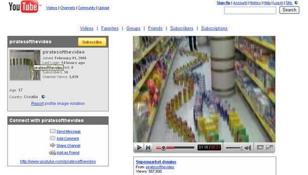 Dominorivistö mutkitteli K-supermarket Aslakin hyllyjen välissä.