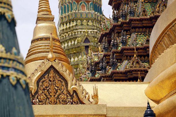 Bangkokin suuren palatsin alueella riittää ihmeteltävää.