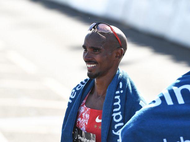 Mo Farah juoksee nykyään maantiekilpailuja.