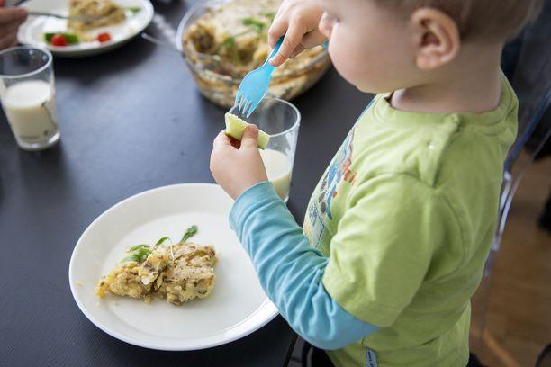 Susanna Vilkamaa kokkaa perheelleen samanlaisia perinteisiä kotiruokia kuin tuhannet muutkin suomalaisäidit. Erotuksena useimpiin on vain se, että ruoat eivät sisällä mitään eläinperäistä. Kuvassa Patrik-poika.